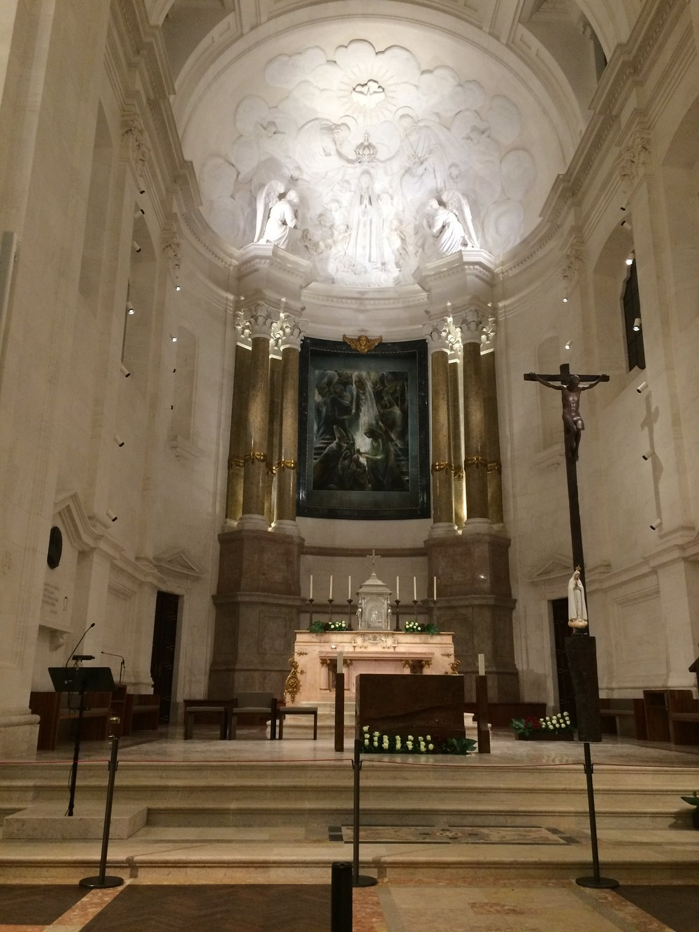 Inside main sanctuary