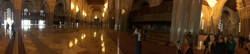 Pano view of inside the mosque