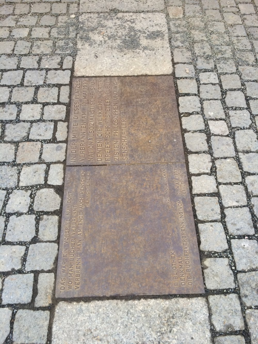 The pathway marking where the wall was throughout the city