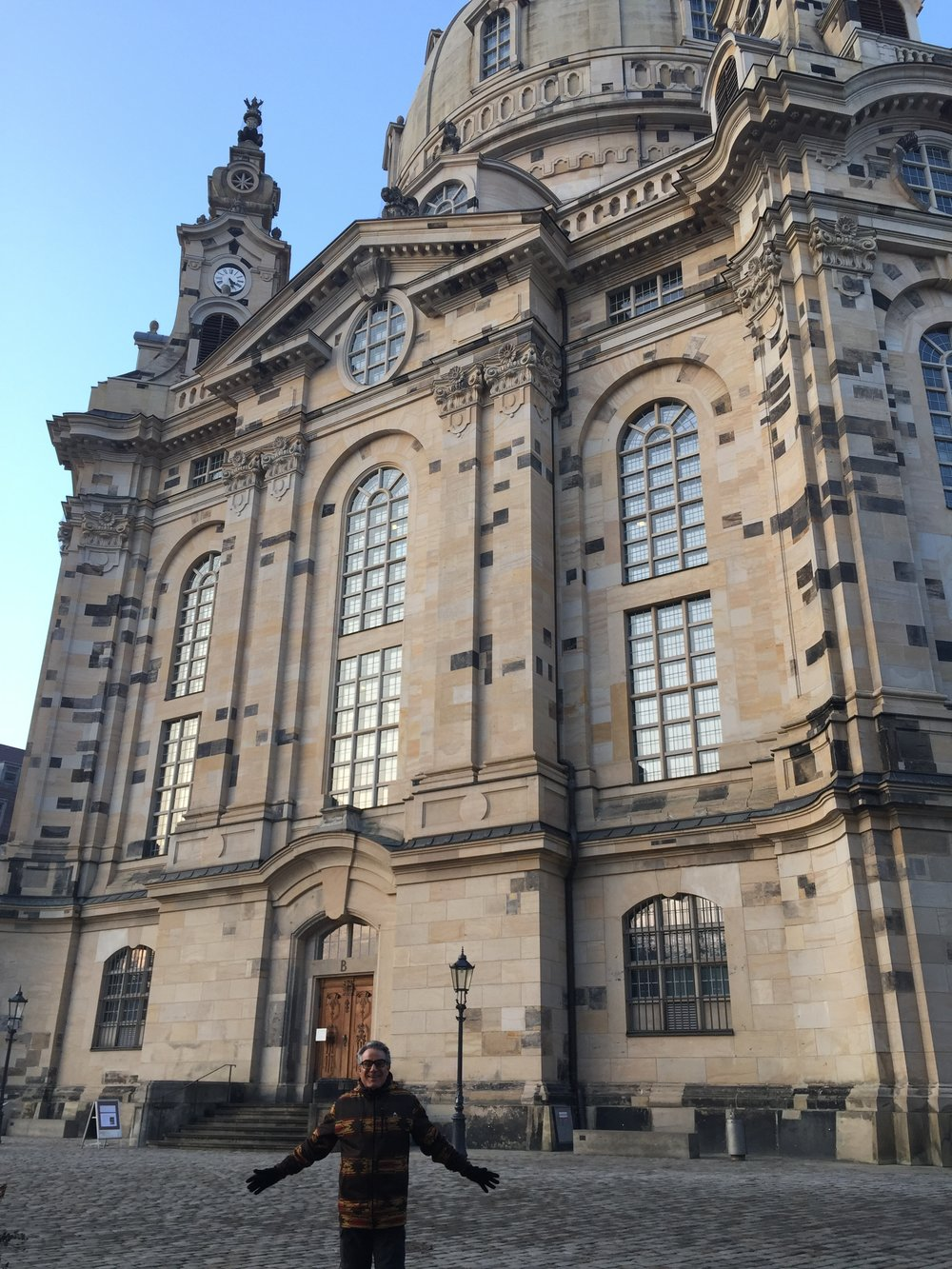Frank outside the Frauenkirche.
