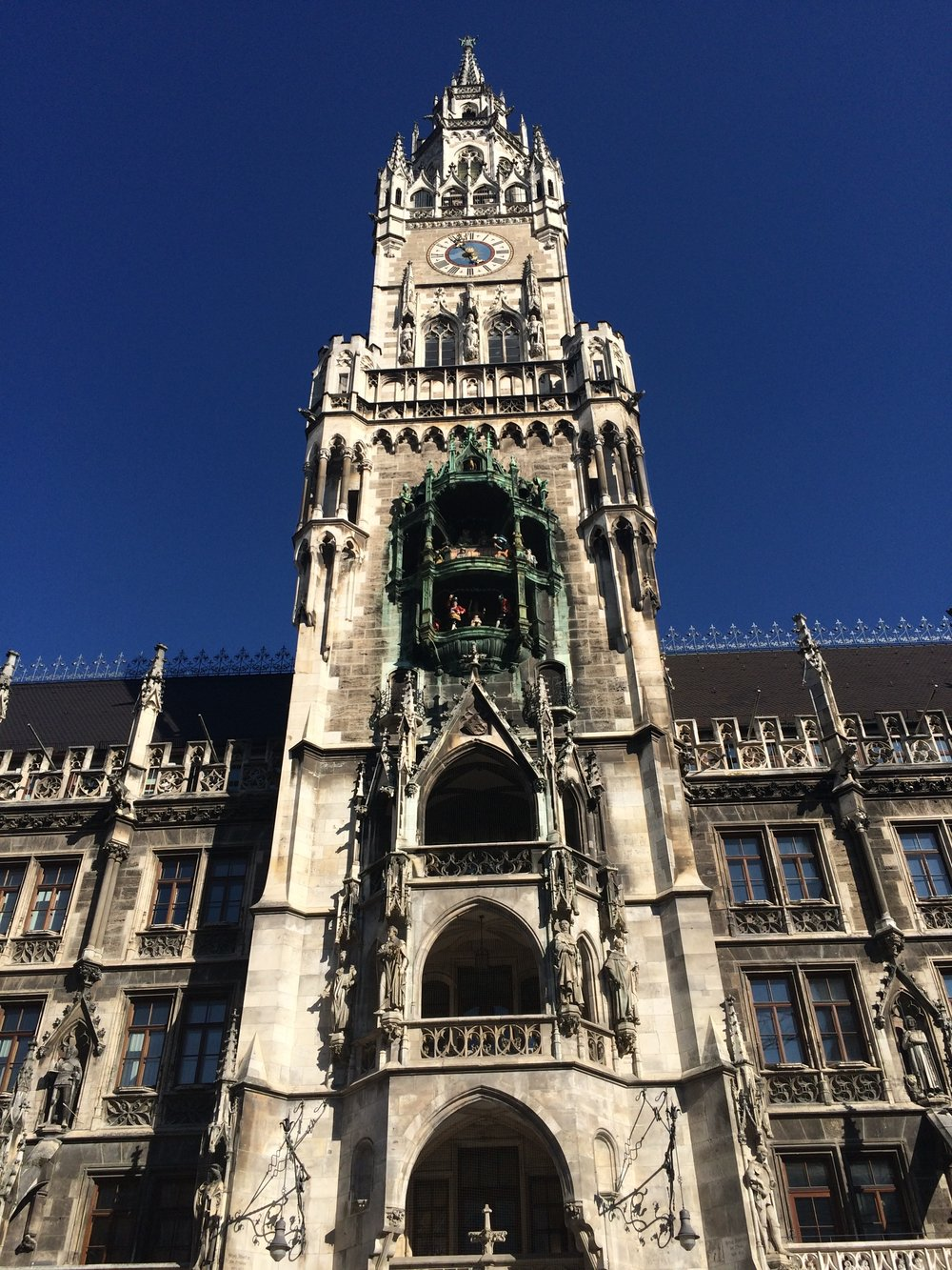 "The Glockenspiel - Part of the city hall.  The ""dancers"" perform on the hour"
