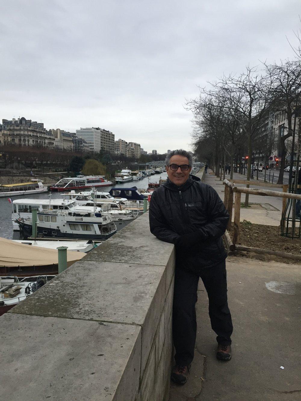 Frank at the Seine