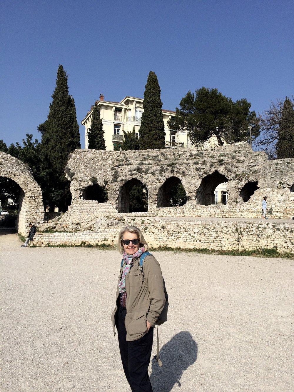 Roman ruins outside of museum