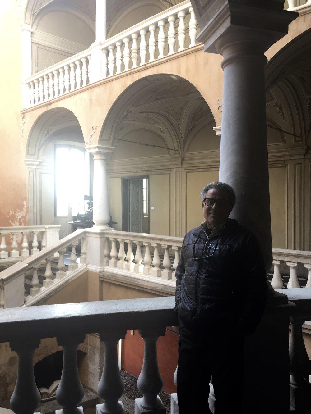 Inside the castle