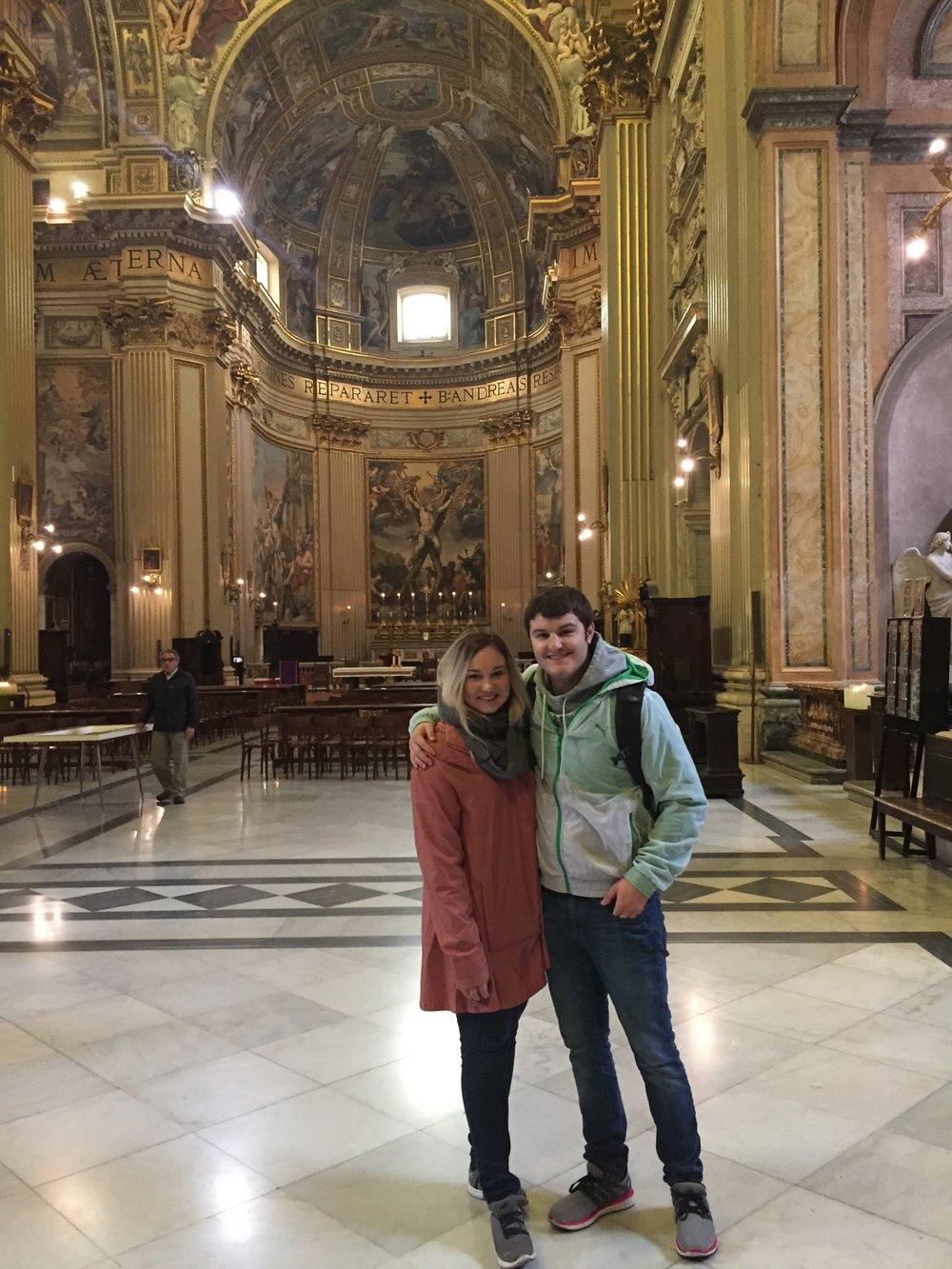 Charlie and Gabbi in their first church