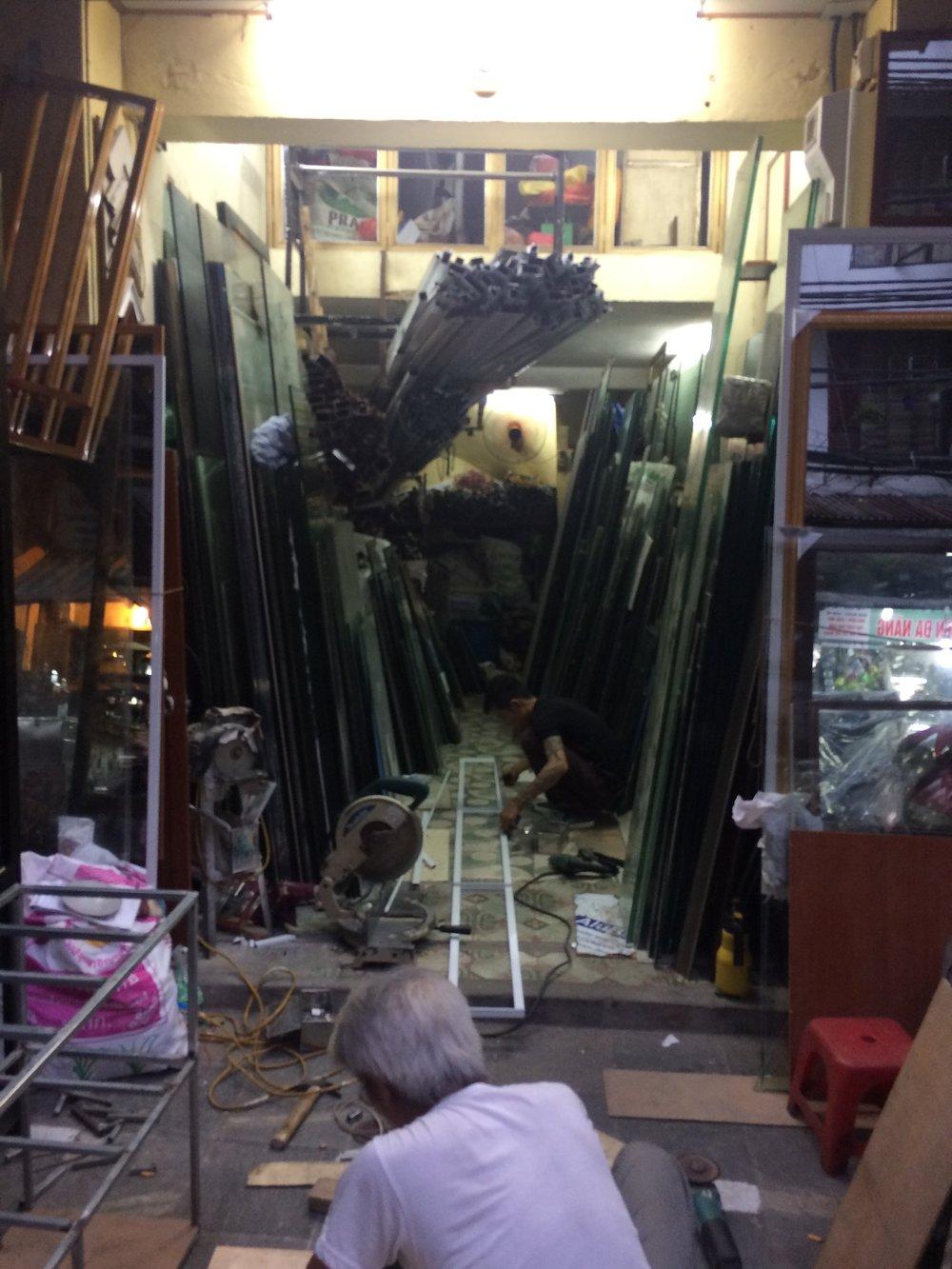 A metal shop