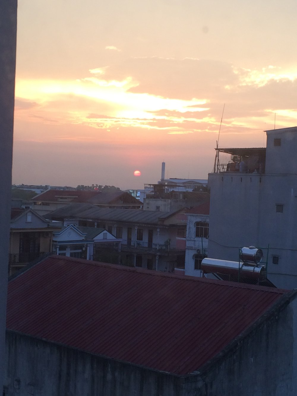 The Hue sunset from our hotel window