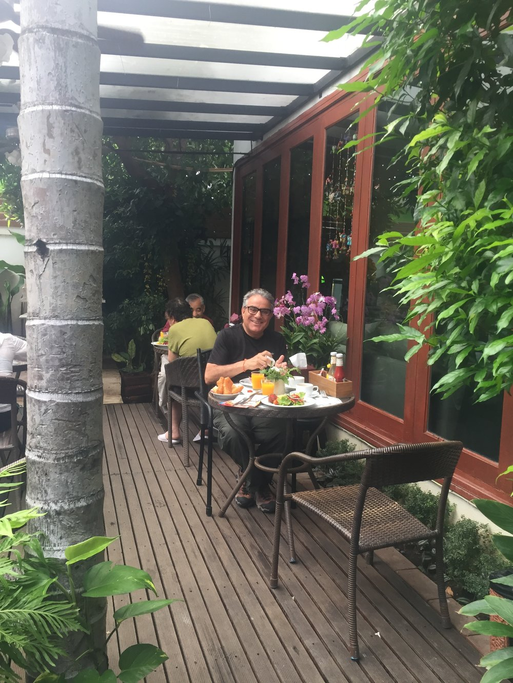 Tropical lunch at hotel