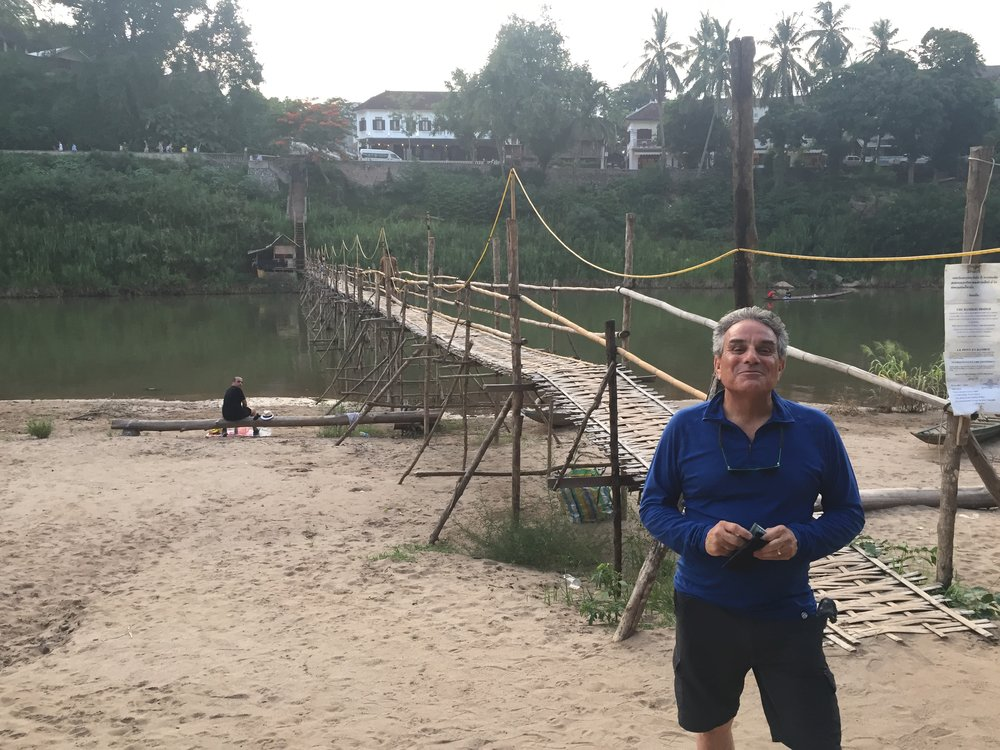 The walking bamboo bridge