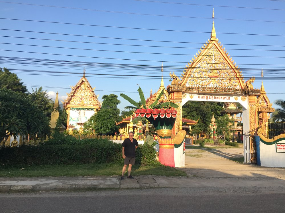 A local Wat we passed on the way to dinner