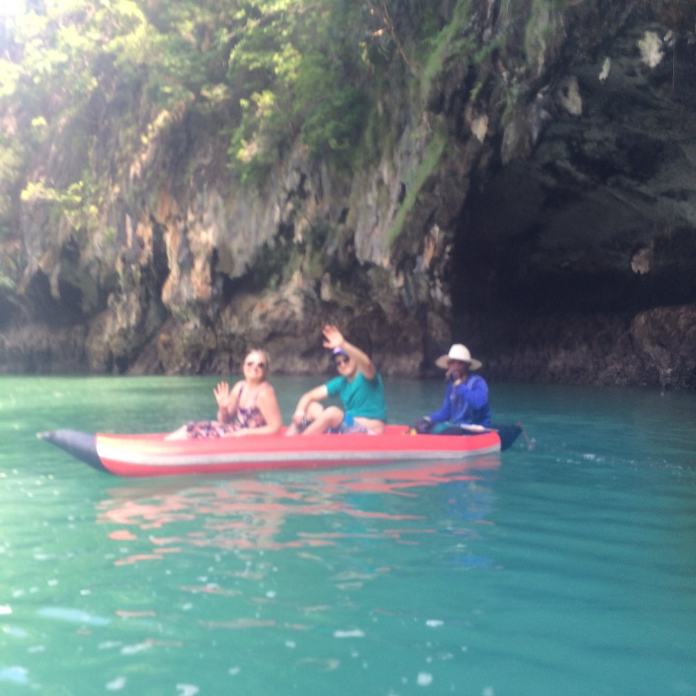 Kayaks on James Bond Island