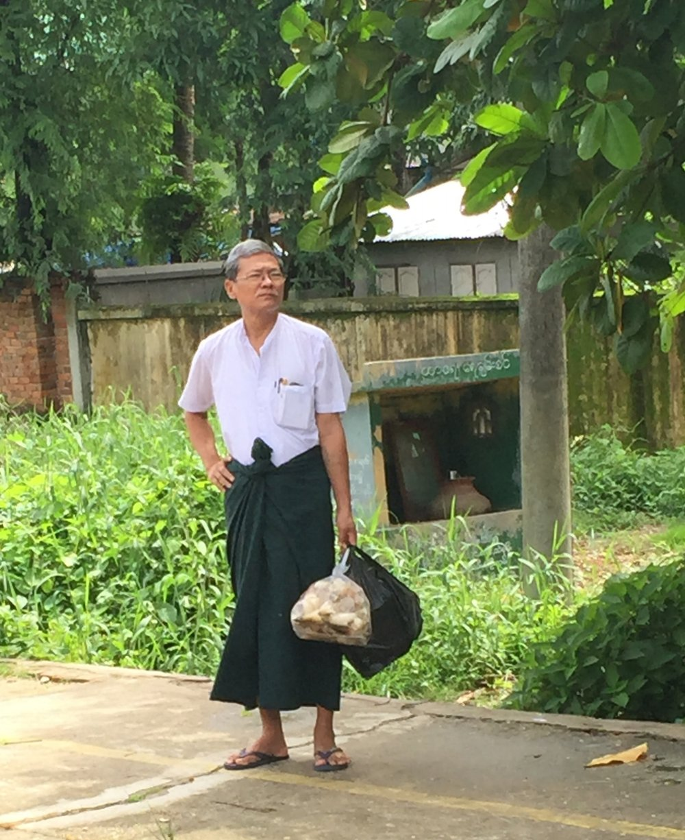 Typical dress of a man on the way to work