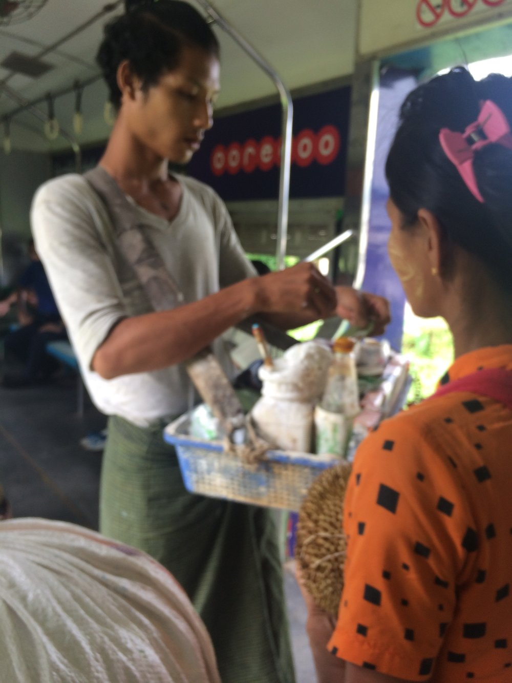 Selling Betel on the train