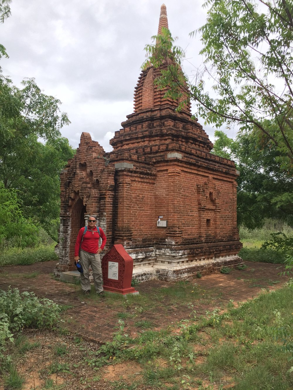 Frank at a perfect small temple