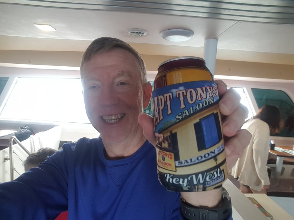 Beer on the boat after both dives
