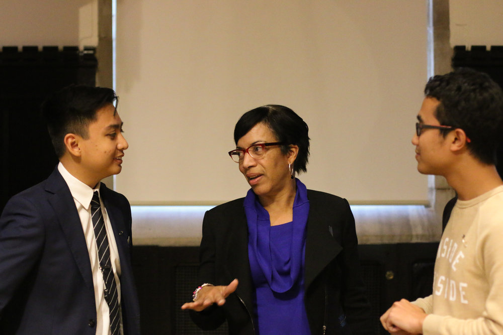 (L-R) AIS President Aiken Sujana, TU Vice President Caldwell, and Former MASA President, Reeza Rosnan.