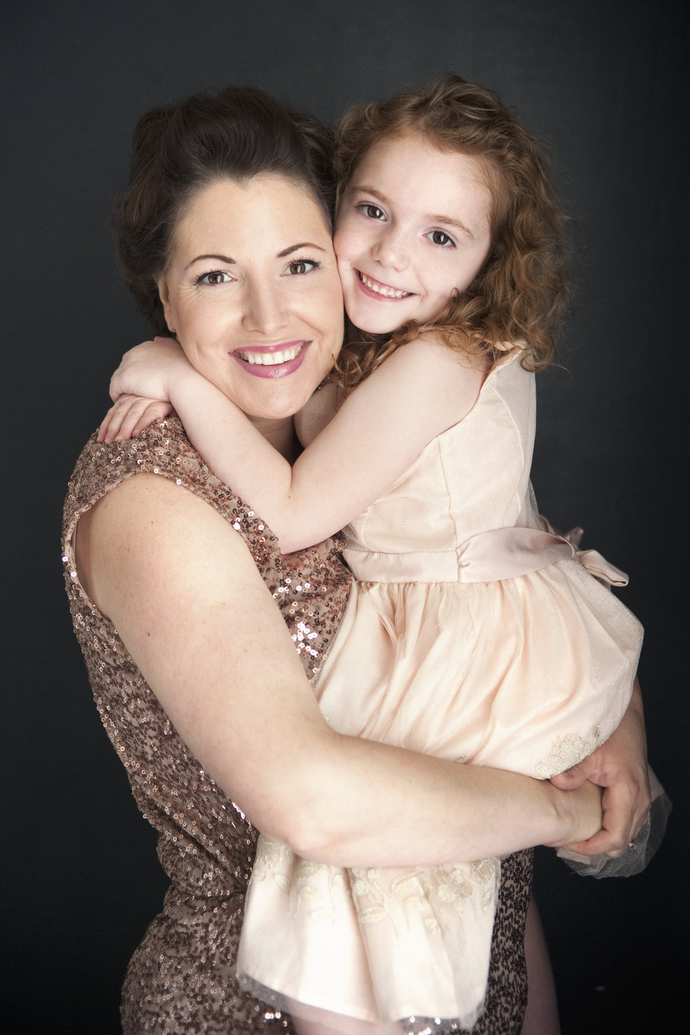 Mother Daughter portraits | Mommy and Me | Mother's Day pictures | mother's day gifts | Christmas Gifts | Birthday Gift Ideas for Women | Blush gowns | Sequins | Winston Salem photographer | North Carolina photographer | #momlife | pictures for mom | picture with mom | Jasper & Fern | www.jasperndfern.com