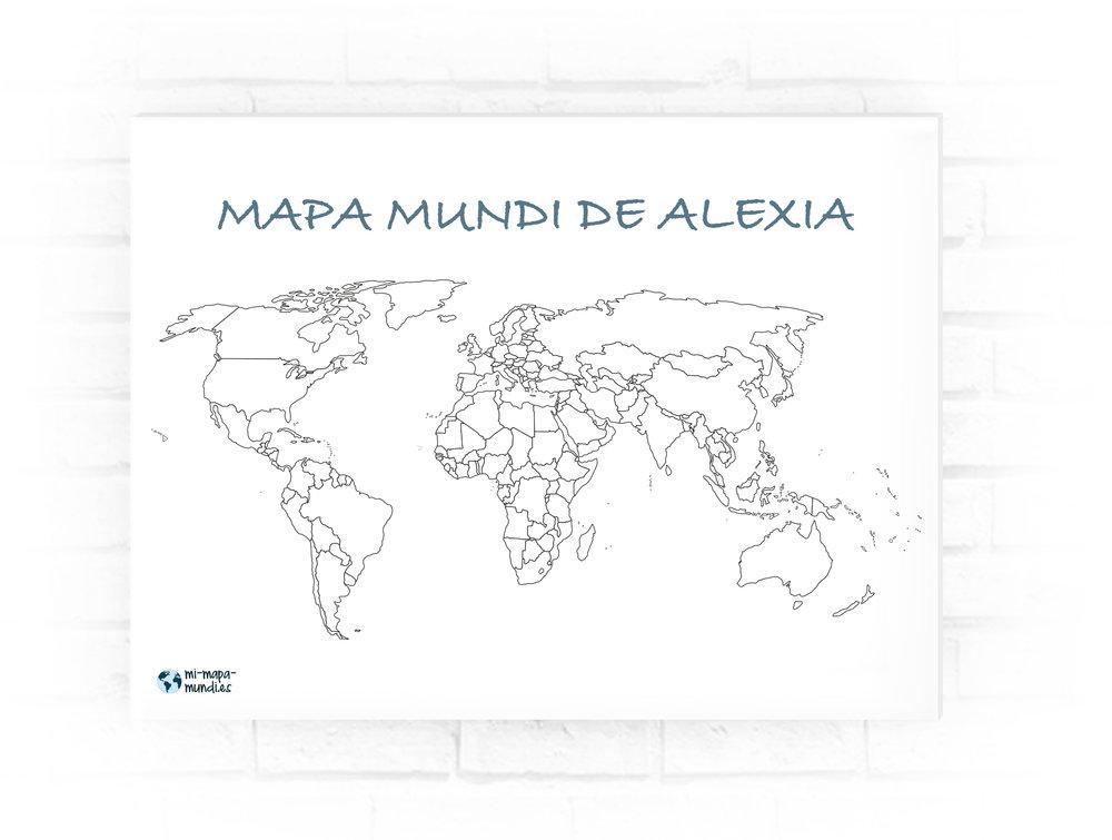 crear un mapa de los paises que has visitado