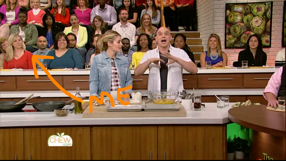 "At the ""tasting table"" in 2015 on ABC's The Chew."