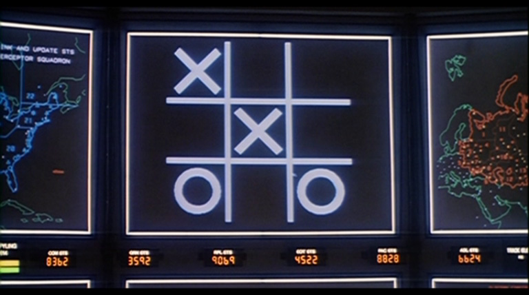 WOPR playing tic-tac-toe.