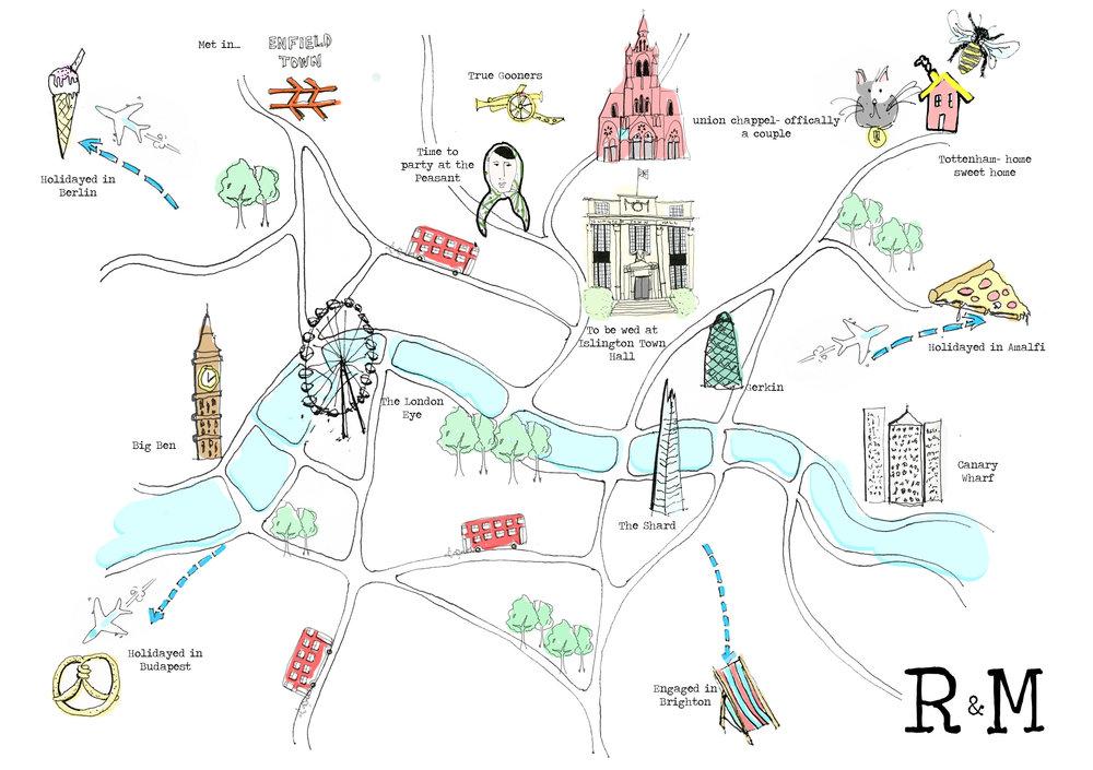 Becca and Matt's Map