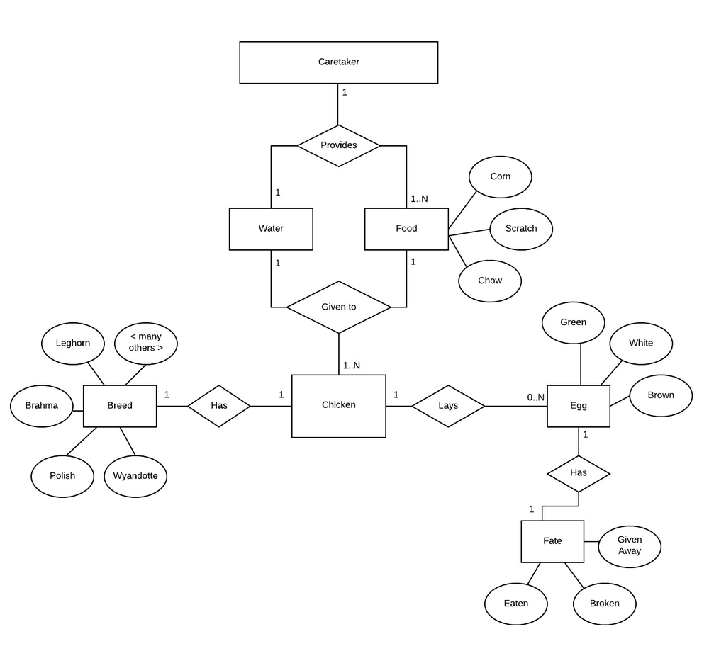 Entity Relationship Diagram for chicken farmers.