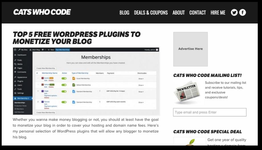 Cats Who Code desktop website