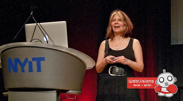 Maria Giudice at WebVisions NYC. Photo by me.