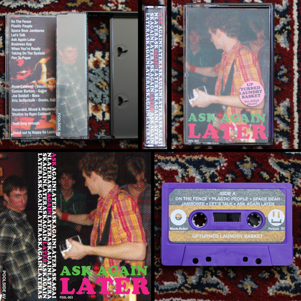 Ask Again Later - Cassette design, layout & packaging