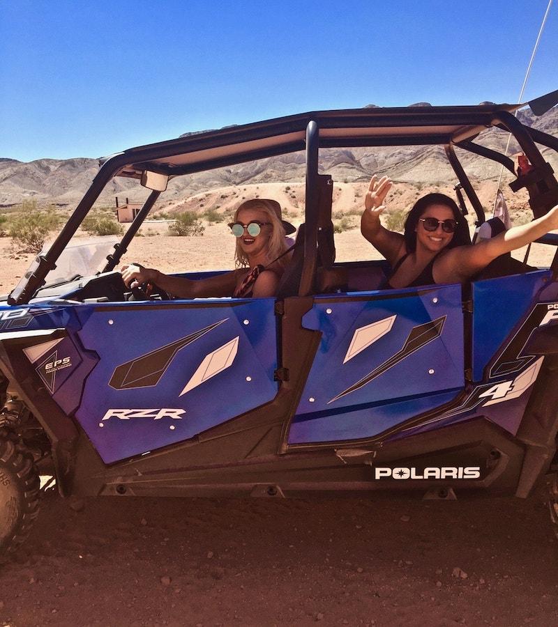 Las Vegas ATV UTV RZR Rhino rentals customer pic 3