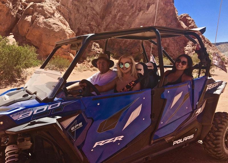 Las Vegas ATV UTV RZR Rhino rentals customer pic 4