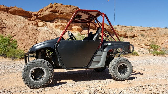Las Vegas ATV Rentals Custom Rhino Desert Close Up