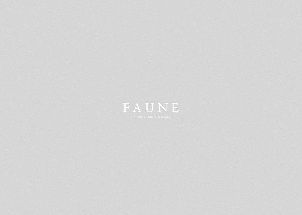 Faune is a biannual wildlife & travel magazine - Autumn Winter 2018