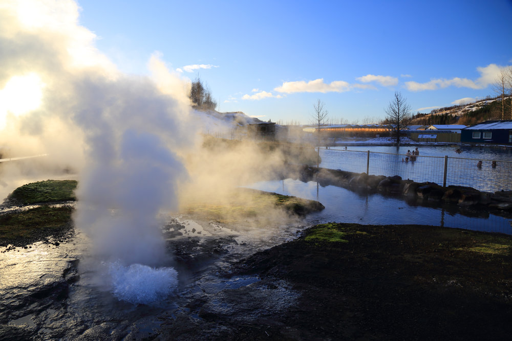 The Secret Lagoon, a geothermal spring-fed public bath