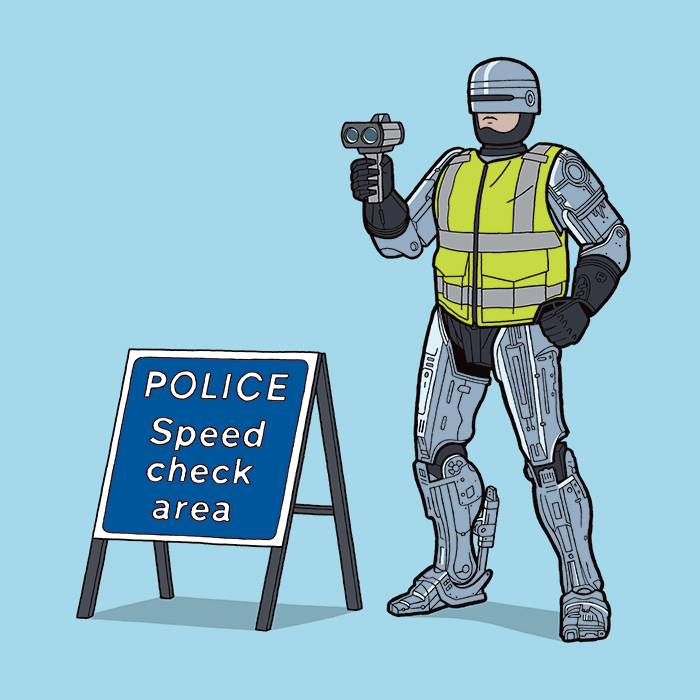 Robo-traffic-cop: Your move, creep!