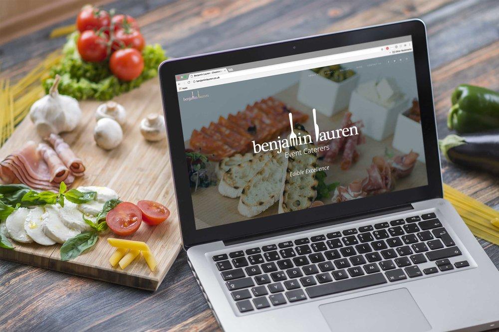 BENJAMIN LAUREN  New responsive website for a Cheshire-based event caterers