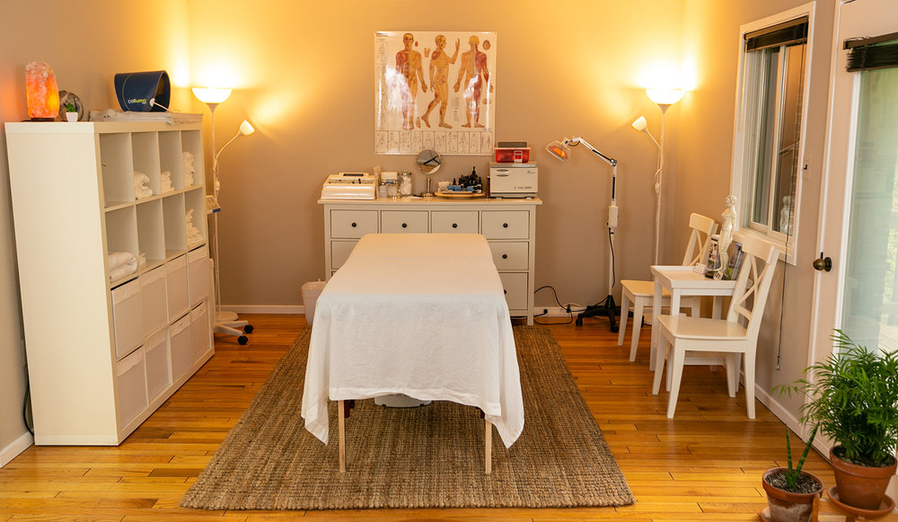 Our acupuncture and facial rejuvenation treatment space.