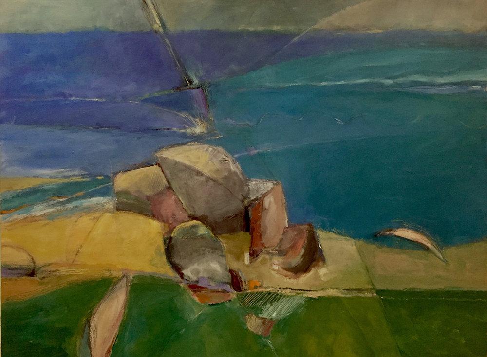 Beach Outcrop  30 x 40   oil on canvas
