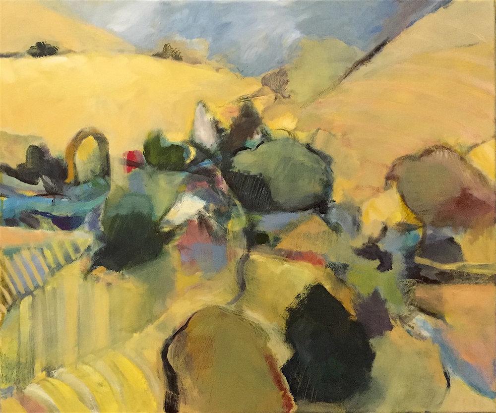 Summer Vineyards  20 x 24   oil on canvas