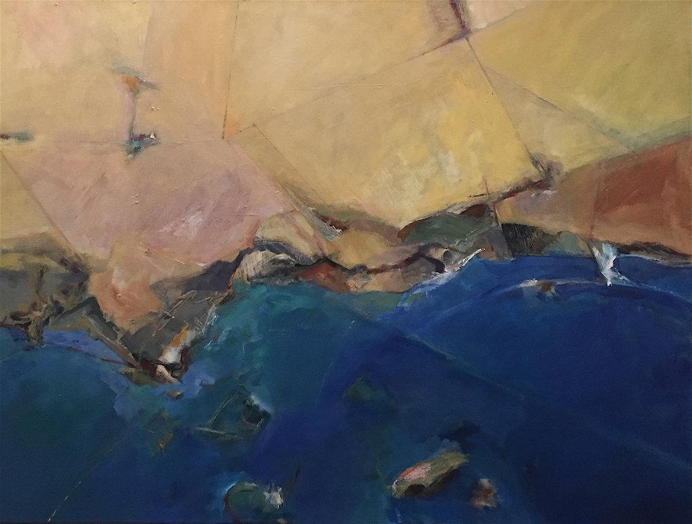 CALIFORNIA/PACIFIC  30 x 40   oil on canvas