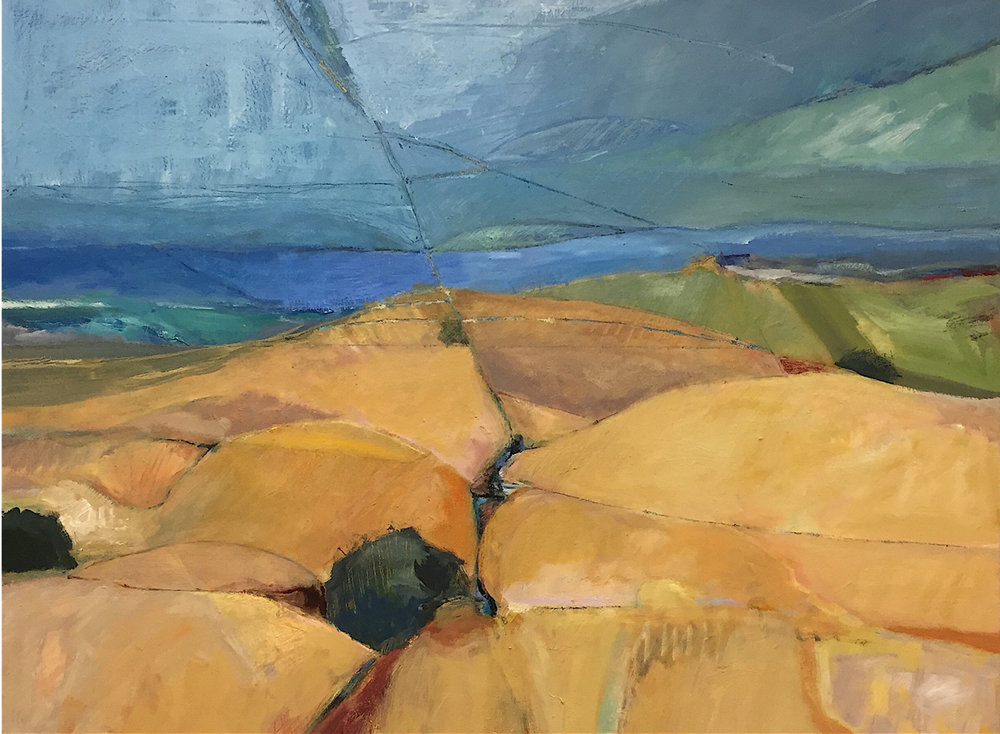 HILLS TO THE PACIFIC 30 x 40   oil on canvas
