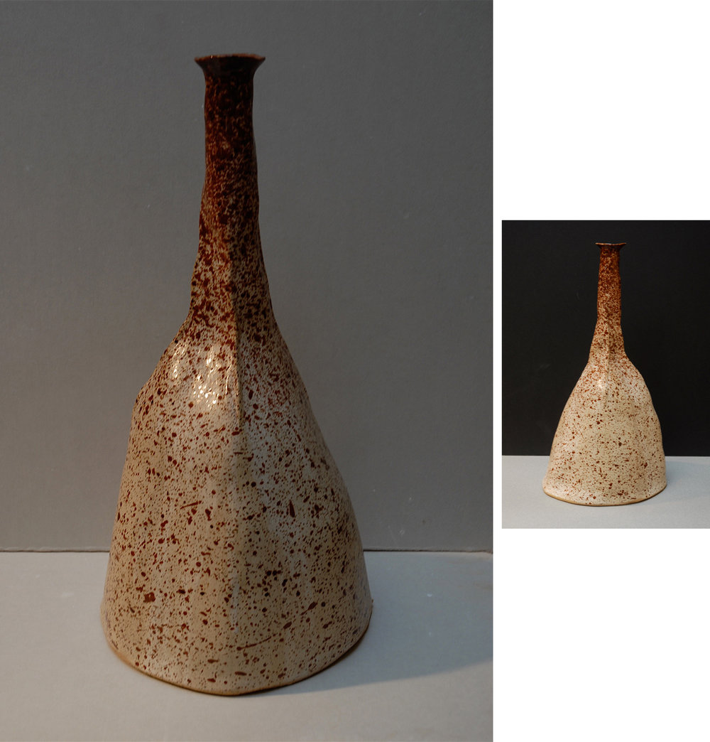 RED SPECKLED VESSEL