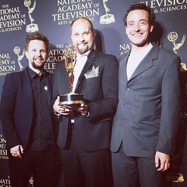 We are thrilled to announce that Let's Be Frank took home an #EmmyAward on Tuesday for best postproduced audio/sounddesign. Huge congratulations to the Red Bull Media House team and everyone involved. @redbulltv @hamblinimagery @claphamrdstudio