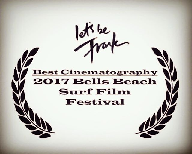 Just been awarded the 'Best Cinematography' award from @bellsbeachsurffilm festival 2017. Special shout out to our genius DOP Matt Day @matthew4506 @hamblinimagery @claphamrdstudio @franksolomon @hej_mmmkay