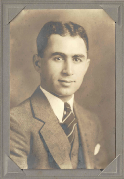 My grandfather, Dr. Philip Moorad (Sr.), at the start of his career in 1935.