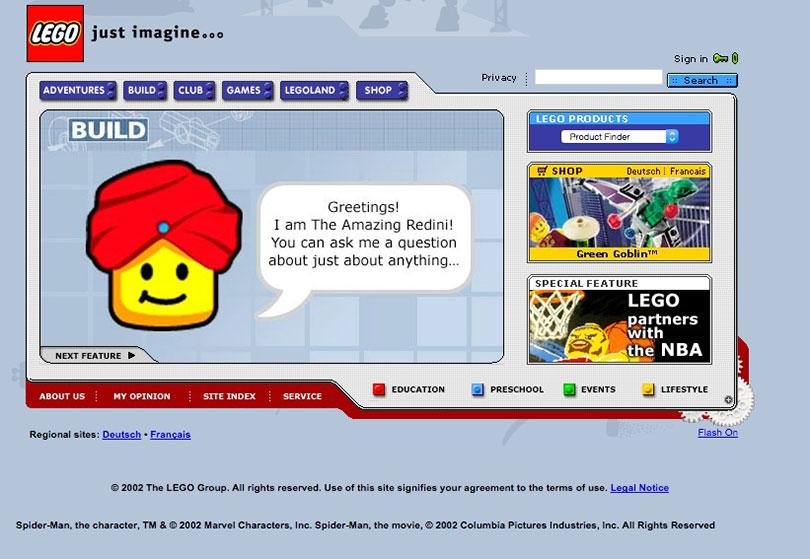Lego.com 2002
