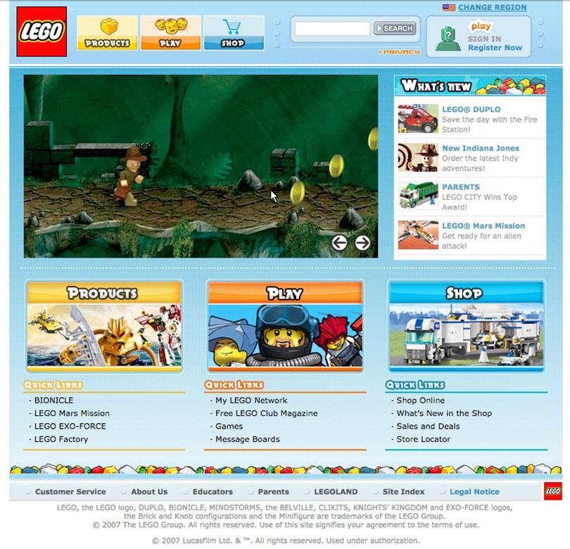 Lego.com 2007