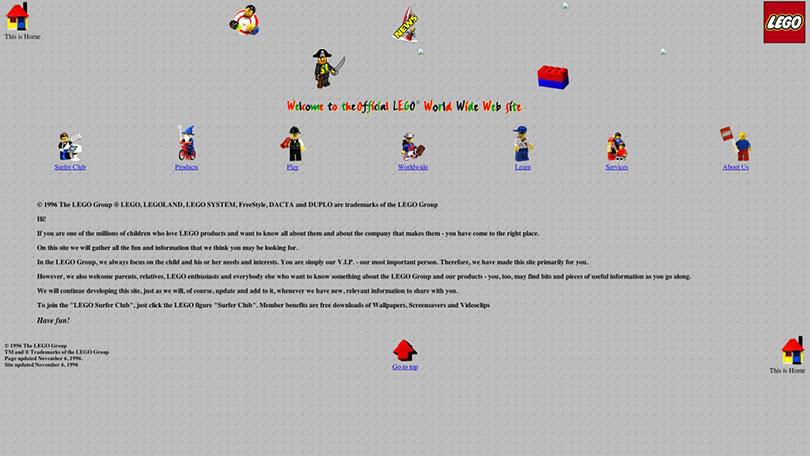 Lego.com 1996