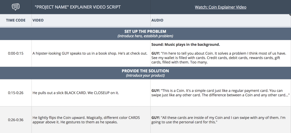 In StudioBinder, once you've created your explainer video script, you can easily break it down for pre-production.