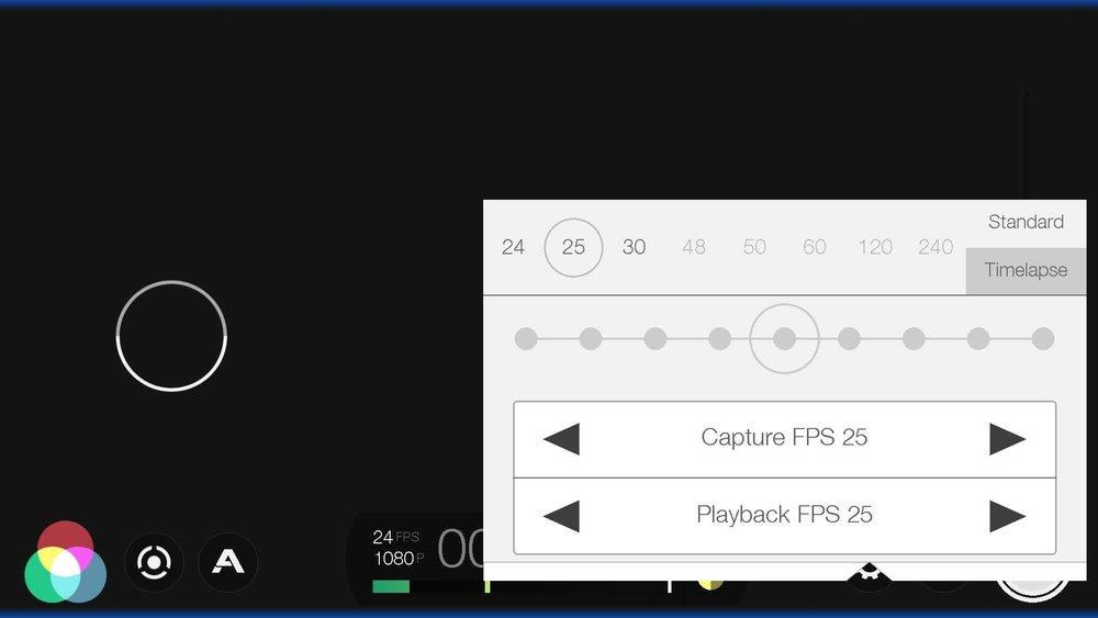 FiLMiC Pro fps settings